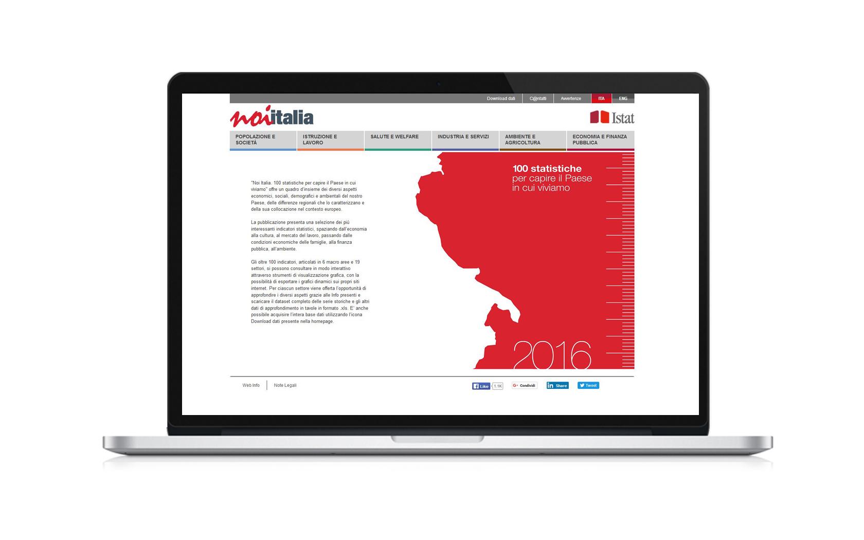 Noi Italia homepage