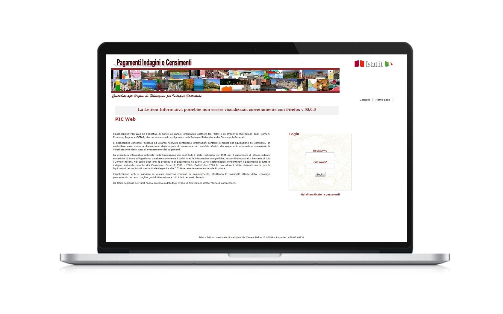 Pagamenti Indagini Censimenti homepage